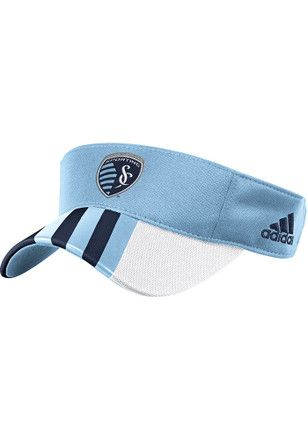 Adidas Sporting Kansas City Mens Light Blue 2017 Authentic Team Adjustable Visor