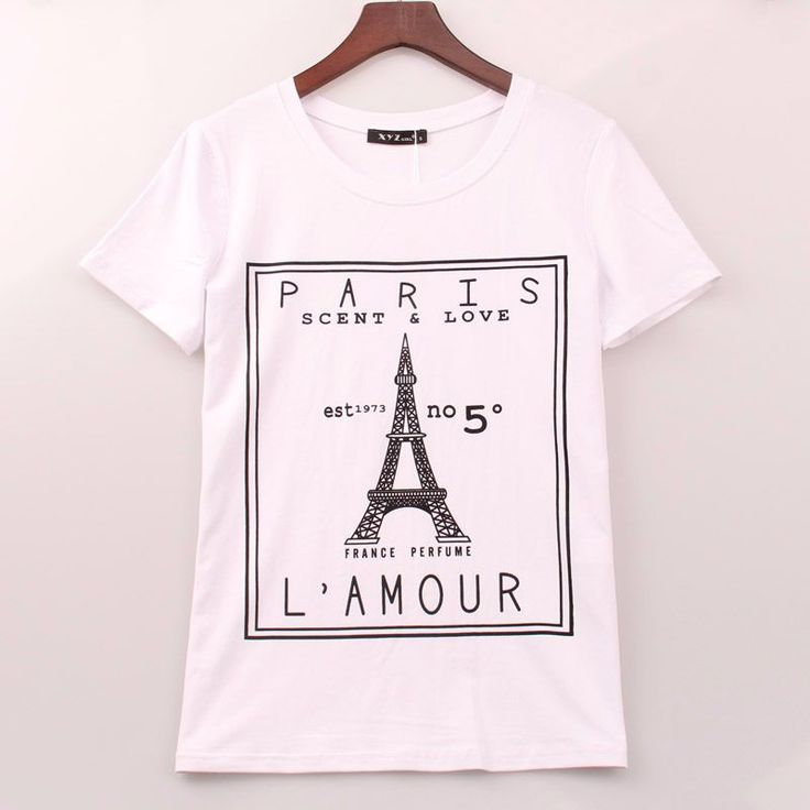 Tops Tee Shirt Femme Casual Eiffel Tower http://mobwizard.com/product/2016-plus-size/