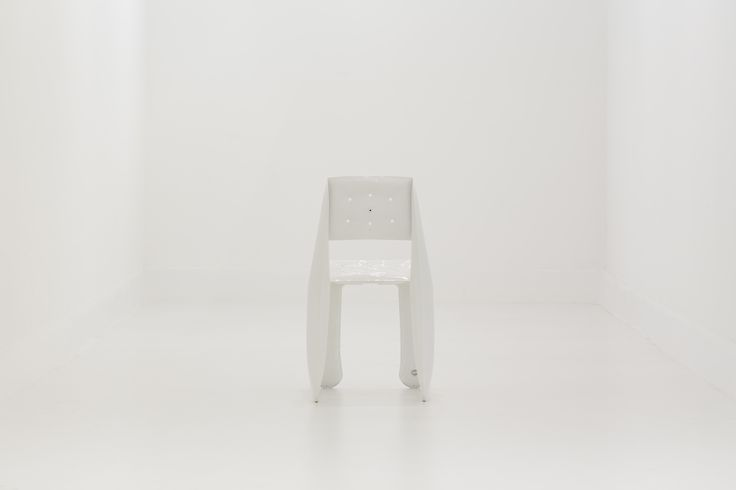 More: https://shop.zieta.pl/en,p,,22,chippensteel__chair.html A development of the limited edition Chippensteel chair - available in new colours. It still offers a unique material experience but the shape of the chair has been slightly redesigned to allow a mass-production. The chair has been uniquely processed and produced in FiDU technology using bending properties of steel sheets.\   presentation http://zieta.pl/zieta_SEATINGS.pdf