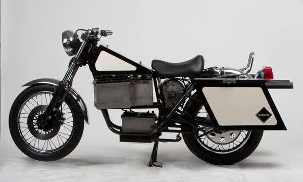 It's not the prettiest, but this custom electric motorcycle from Blindspot is real!