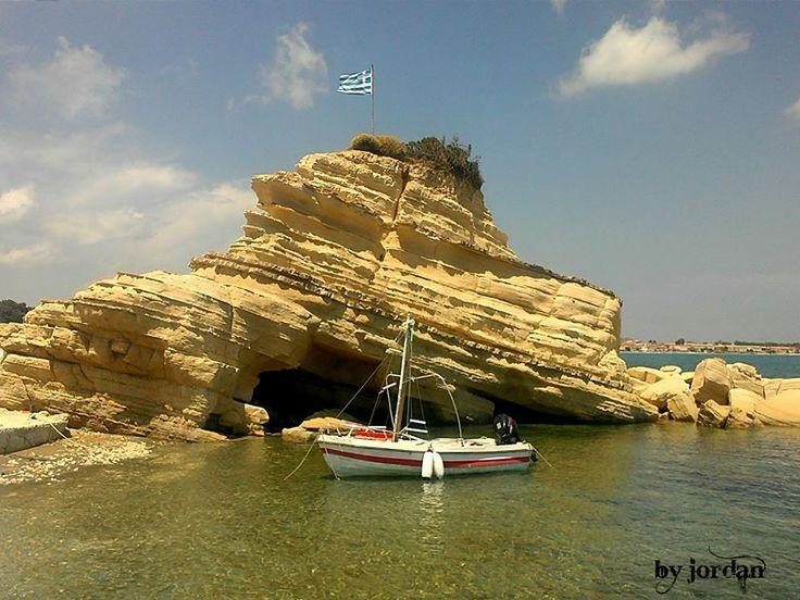 #boat #greece #rock #zakynthos #zante