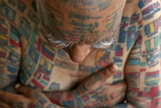 An Indian man focused in establishing a Guinness world record got 366 tattoos inked on his body.