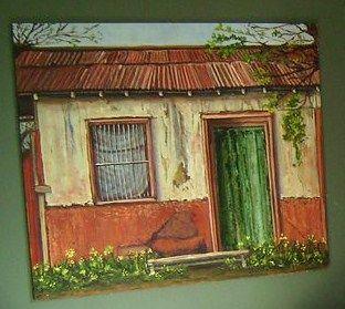 """frente de """"casa en Batuco""""..... un poco al norte en las afueras de Santiago de Chile"""