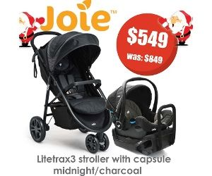 Joie Litetrax3 Stroller With Capsule Midnight/Charcoal | Baby Direct  | Lasoo Online Catalogues