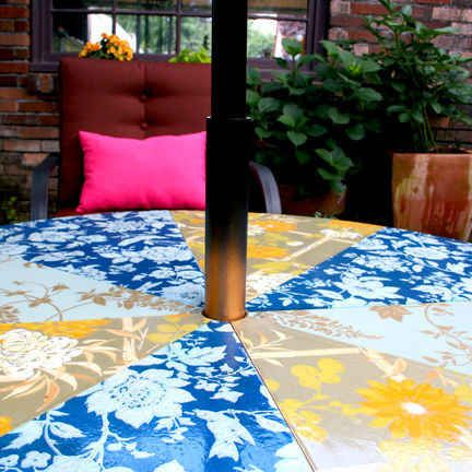 This Updated Patio Table