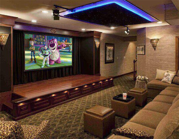 theaters throughout living room home design new | 514 best sick home theaters images on Pinterest | Home ...