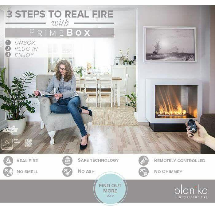 Nuevo modelo PRIMEBOX de #Planika con control remoto.  Info@fueco.co