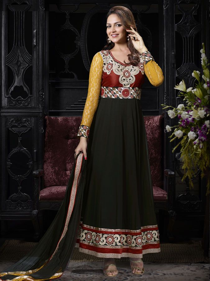 Look #Gorgeous on this #Anarkali #Salwar #Kameez. Buy #Designer Salwar Kameez From #Kalazone Silk Mill  http://www.kalazone.in/x-8224.html