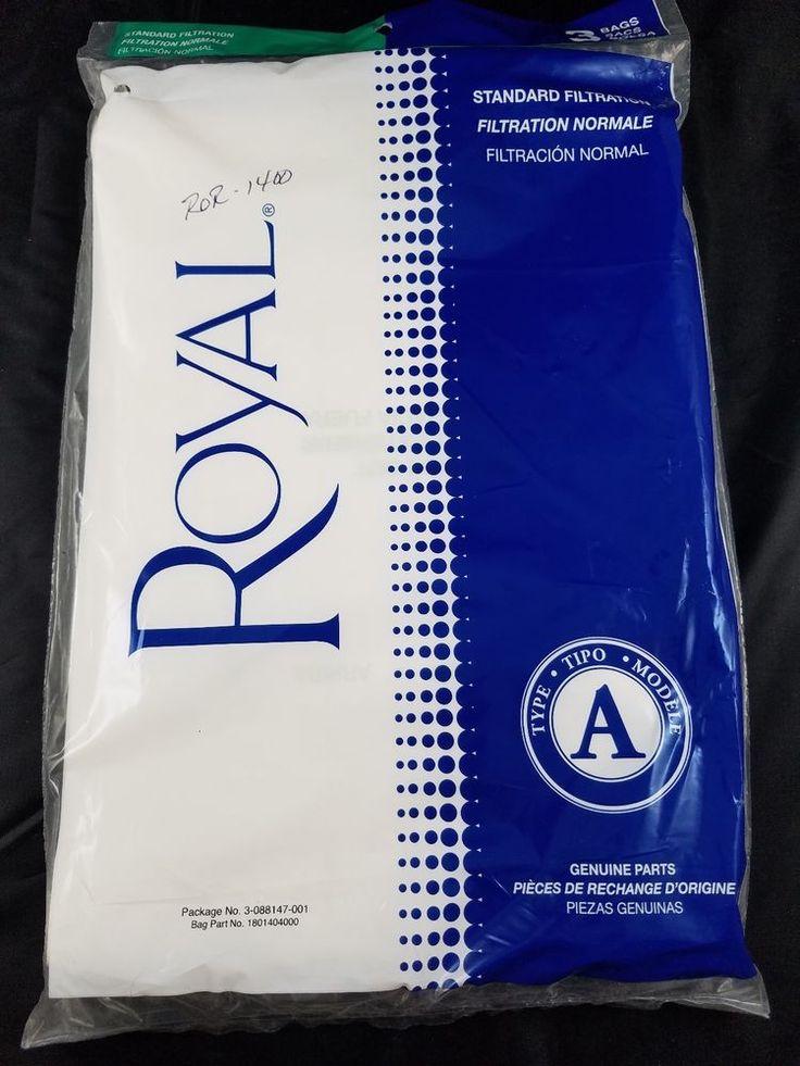 PACK OF 3 ROYAL DIRT DEVIL VACUUM CLEANER BAGS - TYPE A - PART # 3-088147-001 #Royal
