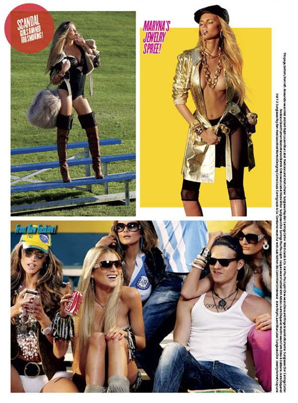 footballers wives Alessandra Ambrosio  Dree Hemingway in Footballers Wives for V Issue #66