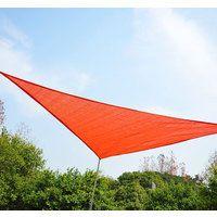 Outsunny Toldo Vela Triangulo tipo Sombrilla o Parasol para Terraza Jardín o Camping - Color Naranja - Polietileno - 5x5x5m Naranja