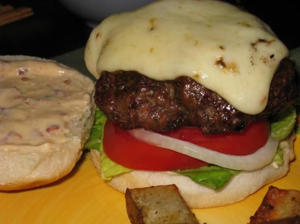 Jamaican Jerk Burgers With Orange-Chipotle Mayonnaise from Food.com: a delicious burger, the recipe includes a homemade jerk sauce as well :) time does not include the 20 minute standing time from bon appetit