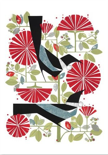Check out December Print by Holly Roach at New Zealand Fine Prints