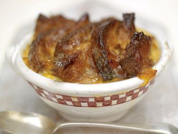 """Good Old Bread and Butter Pudding with a Marmalade Glaze and Cinnamon and Orange Butter"" from Cookstr.com #cookstr"