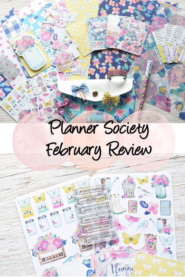 A run through of the amazing February Planner Society kit!