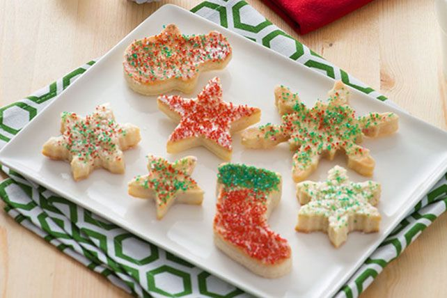 Skip the bakery and make your own sugar cookie cutouts at home. PHILADELPHIA Cream Cheese in the mix makes these especially Santa-worthy.