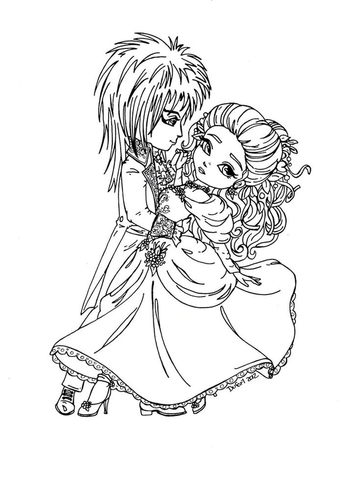 Jareth and sarah labyrinth were made as a prize for for Labyrinth coloring pages
