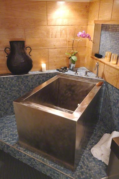 diamond spas japanese soaking tub. Stainless Steel Japanese Bathtub with 3 sided skirt  Made by diamond spas in Colorado hmmmm Spas Tubs Baths Showers Pinterest Bathtubs Spa and