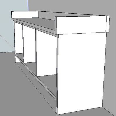 Option 3: ENTRYWAY BENCH & STORAGE SHELF PLANS | Diagram of Step By Step Plans for Building Entryway Bench and Storage Shelf with Hooks from Ana White