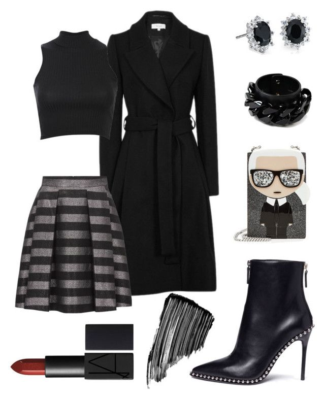 Better in Black by jessann-harrold on Polyvore featuring polyvore fashion style Pilot Alexander Wang Karl Lagerfeld Givenchy Blue Nile Sisley clothing