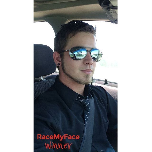 """Selfie in the car"" contest for boys is over and we have a winner pic which we might see again in a ""Selfie with sunglasses"" contest very soon! :) Congrats!‪ Get the app now!  Appstore: www.asmileppstore.com/RaceMyFace  Play Store: goo.gl/R1mwSM  #RaceMyFace #RaceMyFaceWinner #selfiecontest #winwithyourselfie #selfie #selfies #prizes #selfietime #selfienation #winner #inthecar #selfieinthecar #sunglasses"