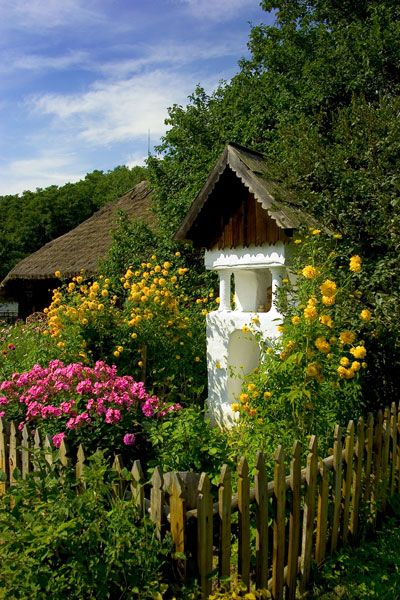 Skansen w Sanoku.  Open air museum, Sanok, Poland
