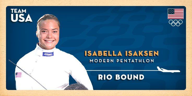 U.S. Women's Modern Pentathlon Becomes Sister Act At Rio Olympics As Isabella Isaksen Qualifies