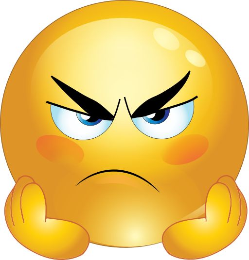 Angry Smiley Face Emoticons Clipart