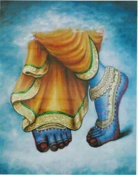 Pada sevanam- seeing, touching, remembering and serving Krishna's lotus feet.