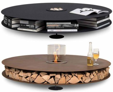 idea from cable spool table? AK47 Home Collection 5: i like the top one - the table also comes in white - click on the pin - just wondering what happens if you lean on it?