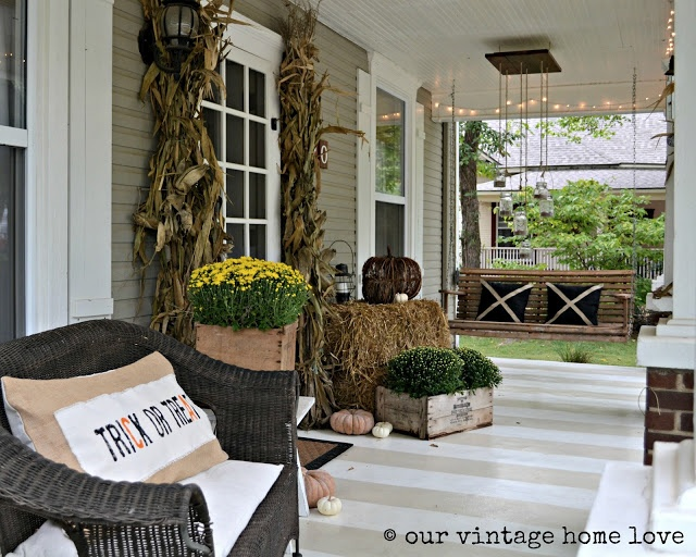 our vintage home love: Autumn Porch Ideas
