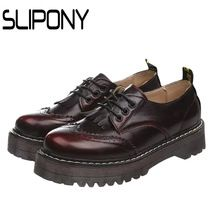3 cm plate-forme oxford chaussures en cuir pour femmes en cuir plate-forme de gland chaussures en cuir avec Britannique brosse pente avec chaussures imperméables(China (Mainland))
