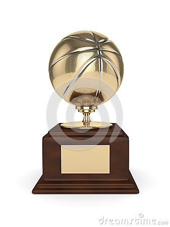 3d rendered basketball trophy  on white background