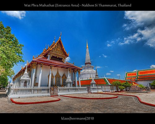 nice Wat Phra Mahathat (Entrance Area) - Nakhon Si Thammarat, Thailand (HDR) Check more at http://www.discounthotel-worldwide.com/travel/wat-phra-mahathat-entrance-area-nakhon-si-thammarat-thailand-hdr/