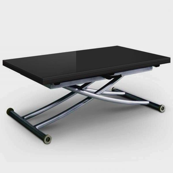 Table Basse Relevable Grise Laquee Up Depliante En 2020 Table Basse Grise Table Basse Table En Verre