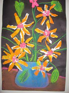 Jamestown Elementary Art Blog: 2nd grade Van Gogh Sunflowers