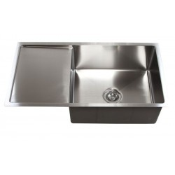 "Premium Undermount Single Bowl Kitchen Sink With Drain Board. Heavy Duty 16 Gauge Stainless Steel. Exterior Dimensions 36"" x 19"" x 10"". Interior Dimensions 21"" x 17"" x 10"". Drain Board 13""  http://www.emoderndecor.com/36-inch-stainless-steel-undermount-single-bowl-kitchen-sink-with-drain-board.html#.UTX02mMyXRg"