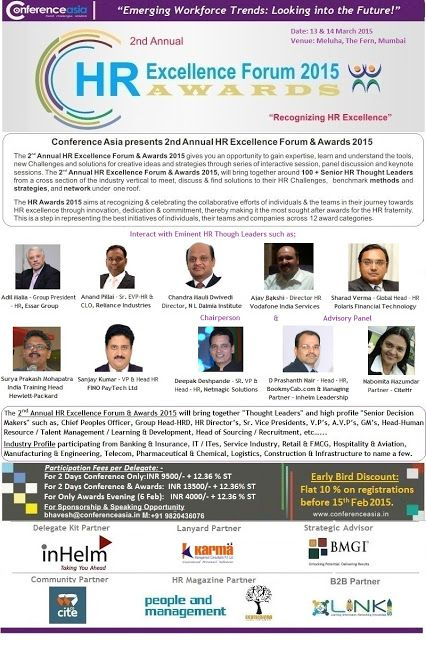 """VUCA: Building skills of Agility & Flexibility into workforce & workplace"" - 13 & 14 March 2015, Mumbai - http://t.co/toh99xDNMK"