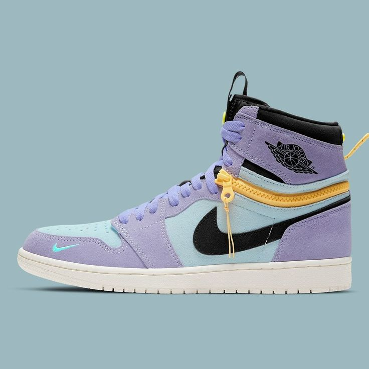 """@jordansdaily shared a photo on Instagram: """"Official images of the Air Jordan 1 High Switch """"Purple Pulse"""" have surfaced 👀 Better than the Grey/White colorway? Link in bio for more…"""" • Dec 17, 2020 at 10:01pm UTC"""