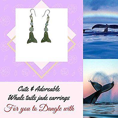 Amazon.com: Whale Tail Handmade Jade Earrings: Jewelry