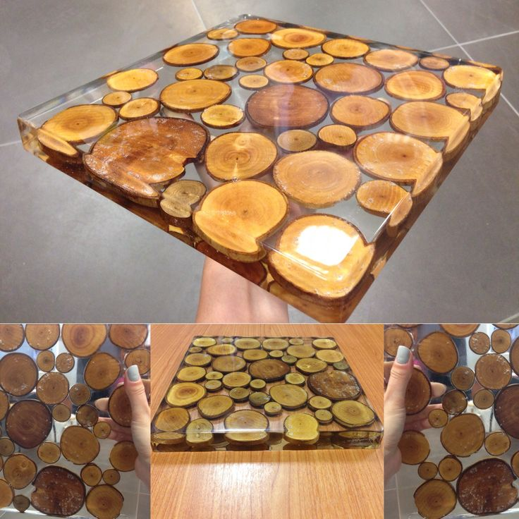 Crystal clear epoxy resin with wood  Art with resin and wood