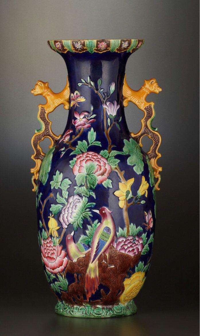 717 Best Majolica I Images On Pinterest Porcelain Vases And Jars