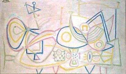 Picasso-Natura morta con melone