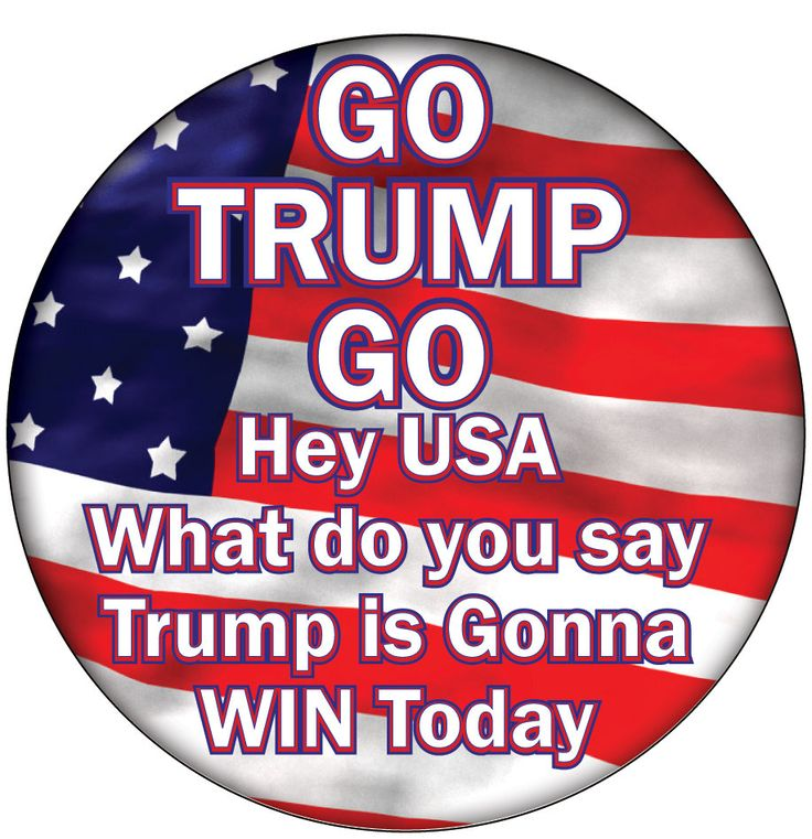 "DONALD TRUMP ""Go Trump Go""  3"" CAMPAIGN Pin Back Button Presidential Candidate 2016 by Badgelady117 on Etsy"