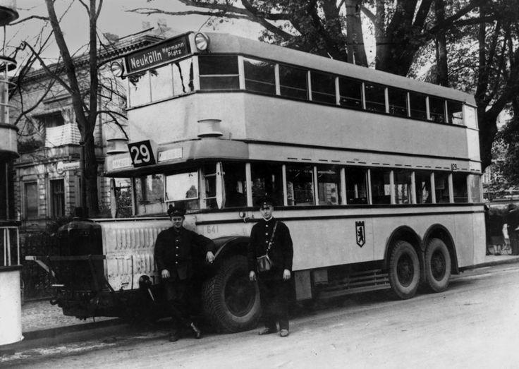 Berlin 1929 BVG Omnibus der Linie 29