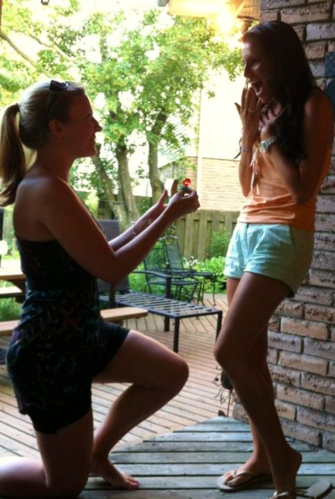 Propose to bridesmaids with ring pop! Totally happening. Pictures are a must for the reception table! :)