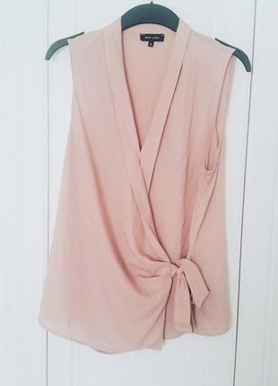 Pink Wrap Blouse