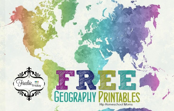Geography Classroom Decor ~ Free geography printables