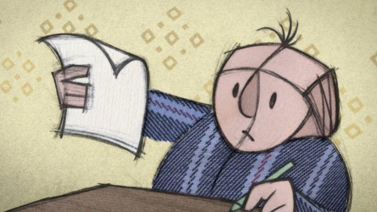 """ADHD - Film - De korte animatiefilm, getiteld """"Vallende Letters""""  is gemaakt door de Zweedse filmmaker Erik Rosenlund en toont een dag uit het leven van een jonge leerling met ADHD, uit zijn uitdagingen en afleidingen in de klas tot de sociale problemen met zijn leeftijdgenoten."""
