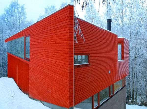 Red House in the western suburbs of Oslo designed by JVA. [via House Design Trends]